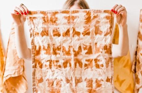 Tutorial: Shibori effect using bleach