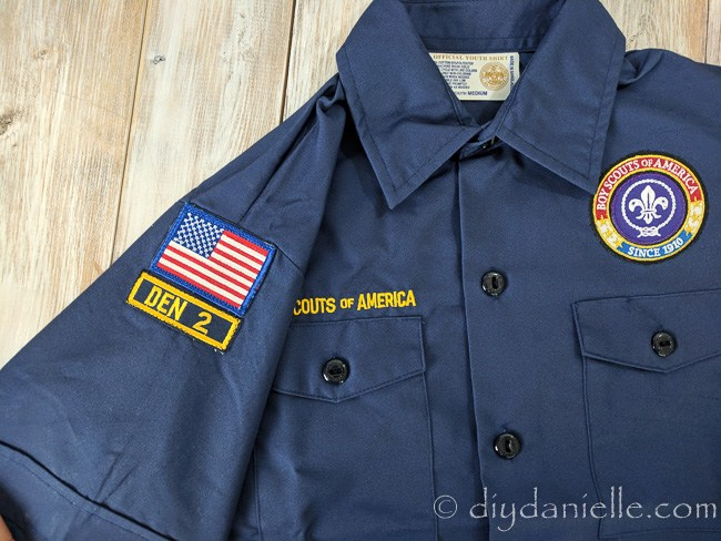 Sewing tutorial: 2 easy ways to attach patches to a scout uniform
