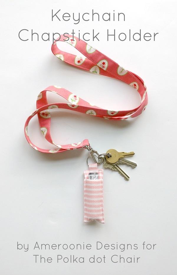 Sewing tutorial: Keychain lip balm holder