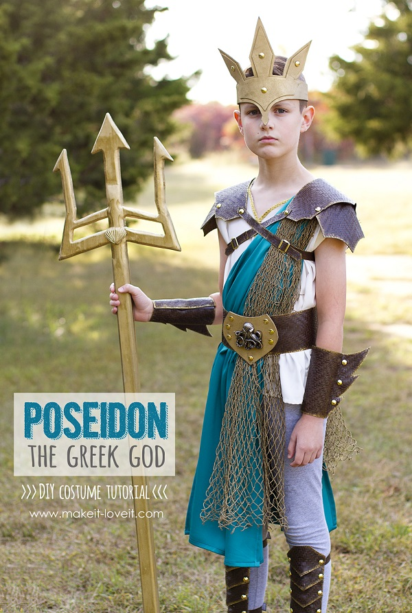 Tutorial: Greek god Poseidon Halloween costume
