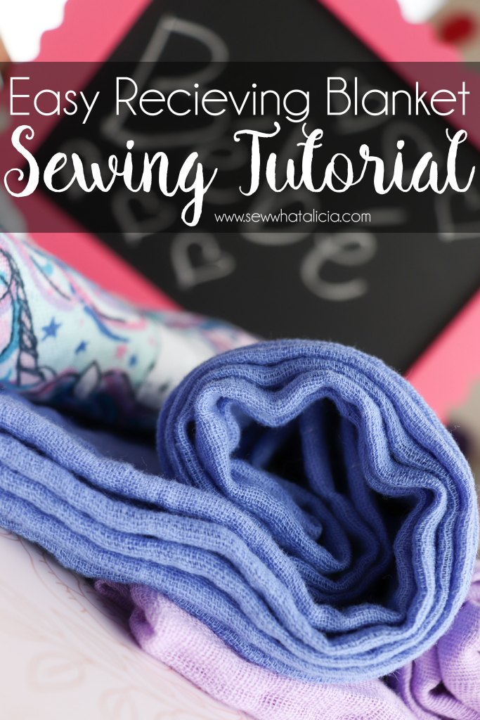 Sewing tutorial: Gauze fabric receiving blanket