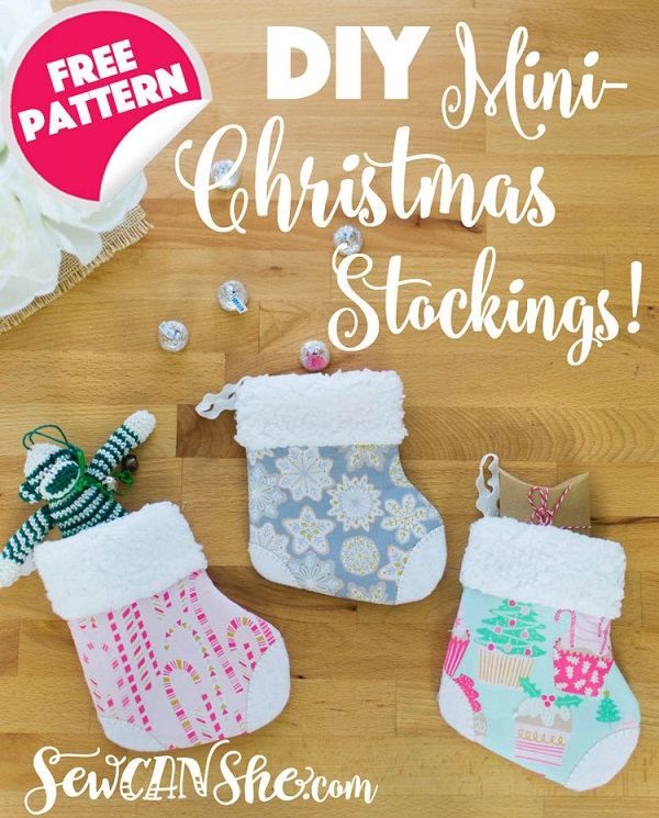 Sewing tutorial: Mini Christmas stockings