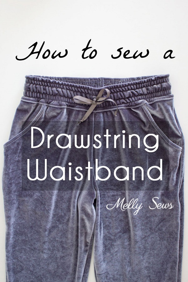 Sewing tutorial: Drawstring elastic waistband