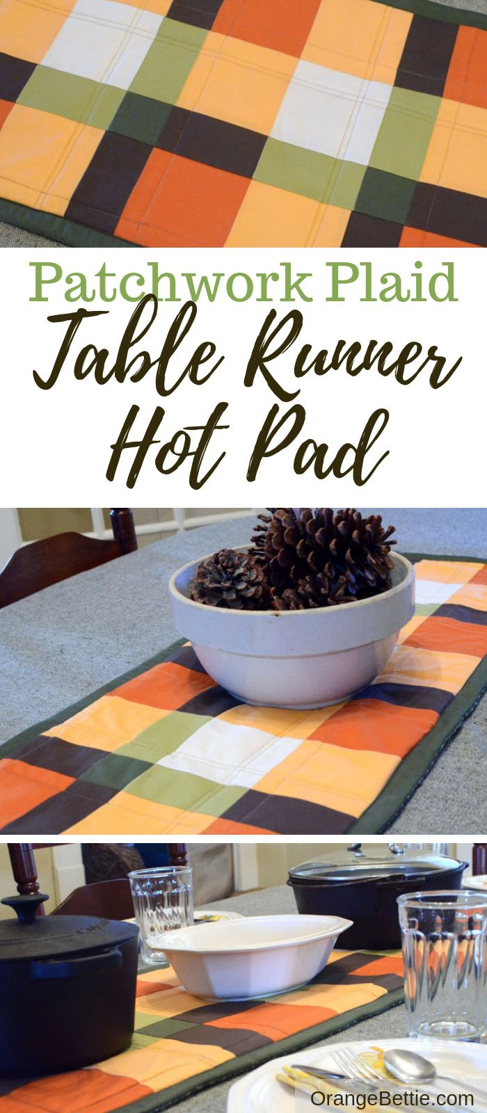 Sewing tutorial: Quilted table runner hot pad