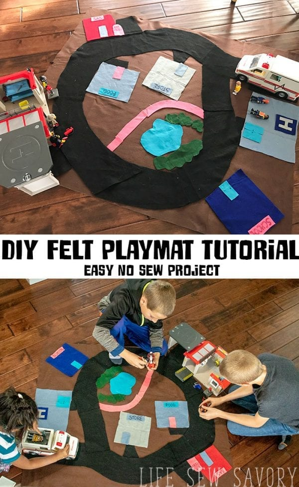 Tutorial: No-sew felt playmat