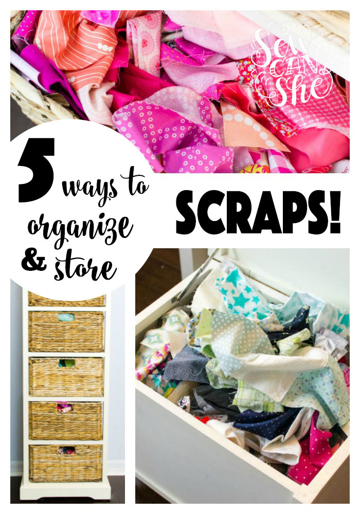 Tips for organizing your fabric scraps