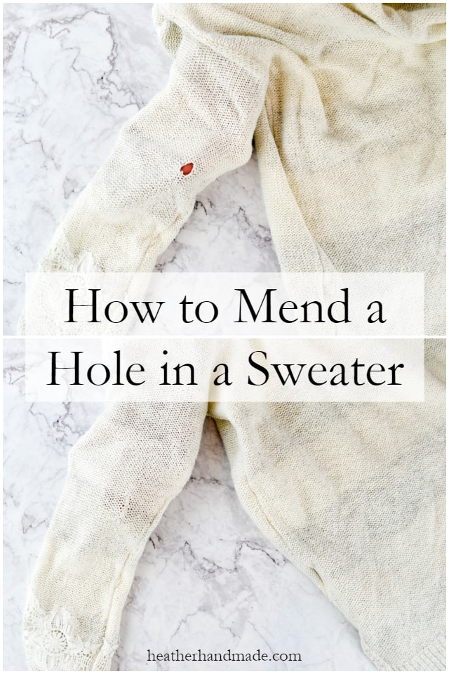Sewing tutorial: Mend a hole in a sweater