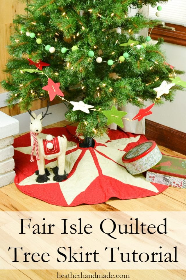 Sewing tutorial: Fair Isle Christmas tree skirt