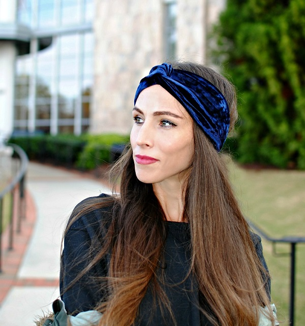 Sewing tutorial: Velvet turban headband