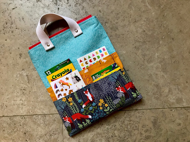 Sewing tutorial: On-the-go art tote for kids