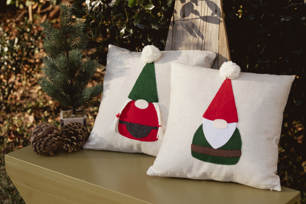 Sewing tutorial: Gnome throw pillows