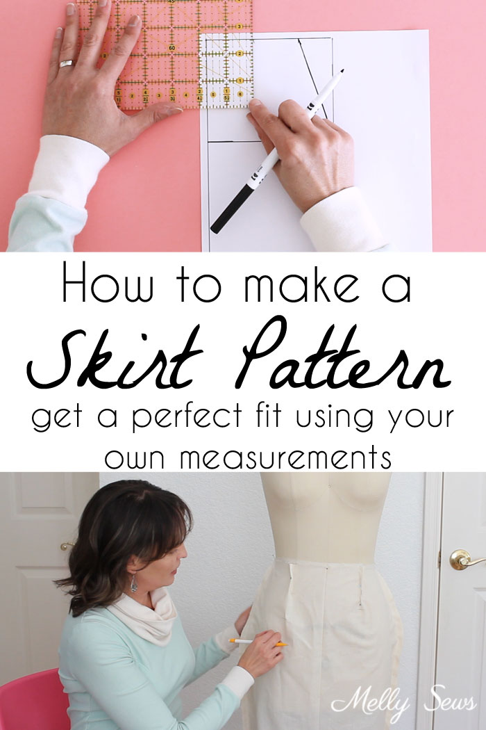 Sewing tutorial: Draft a skirt pattern to your measurements
