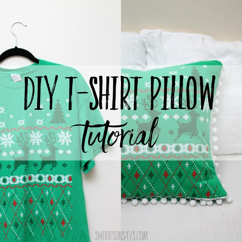 Sewing tutorial: Upcycled t-shirt pillow