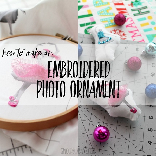 Sewing tutorial: Embroidered photo Christmas ornaments