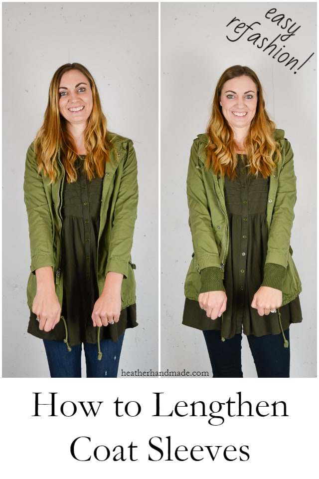 Sewing tutorial: Easy trick to lengthen jacket sleeves