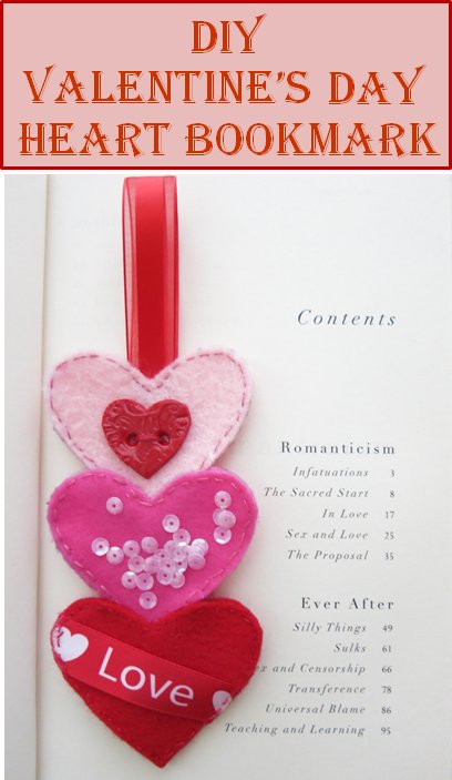Sewing tutorial: Stacked Hearts Bookmark