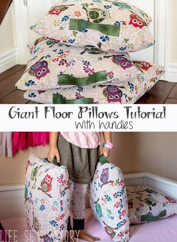 Sewing tutorial: Floor pillows with handles
