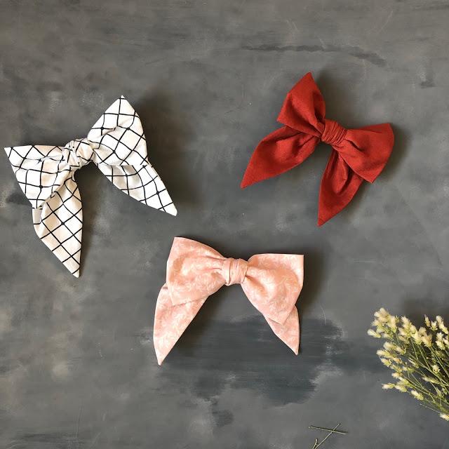 Free sewing pattern: Big fabric bow