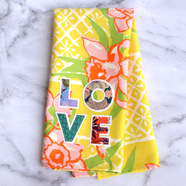 Sewing tutorial: Love tea towel from home dec cotton