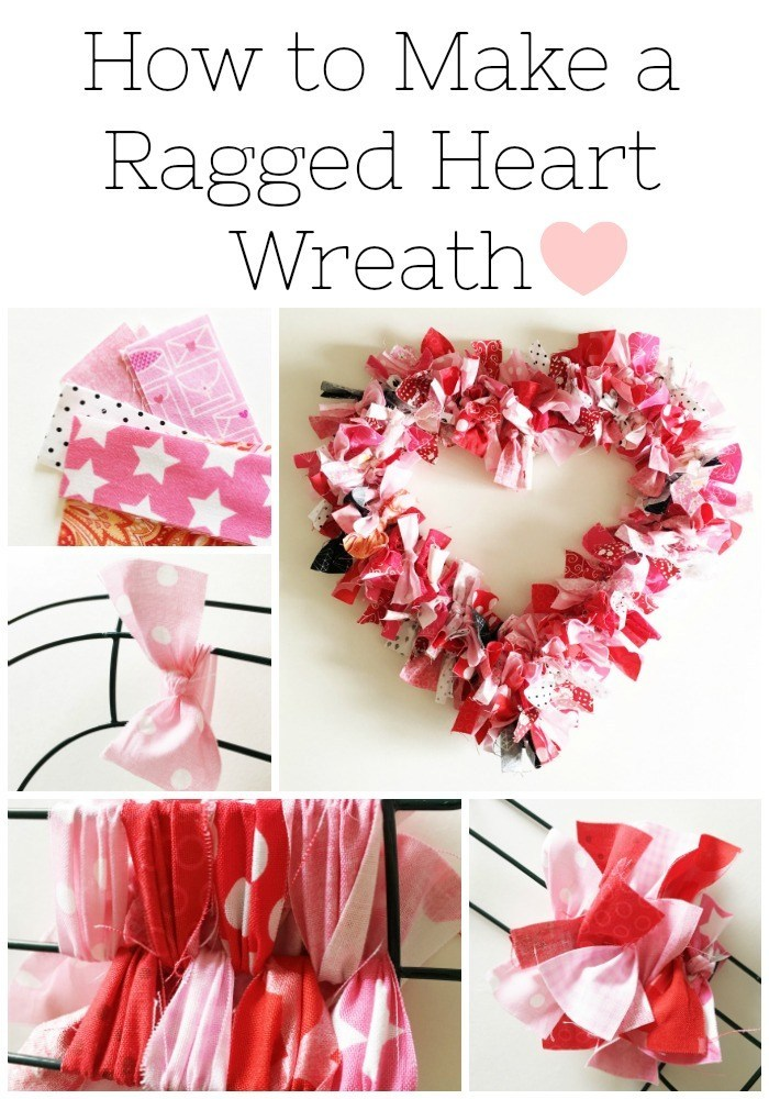 Tutorial: Fabric heart wreath for Valentine's Day