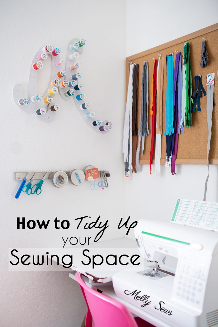 Tips for tidying up your sewing room