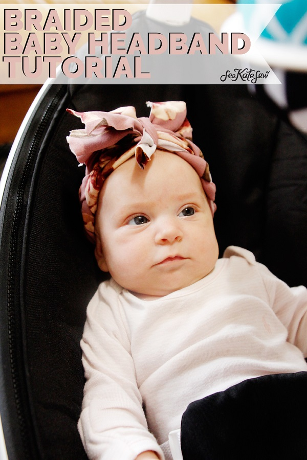 Sewing tutorial: Braided headband for baby