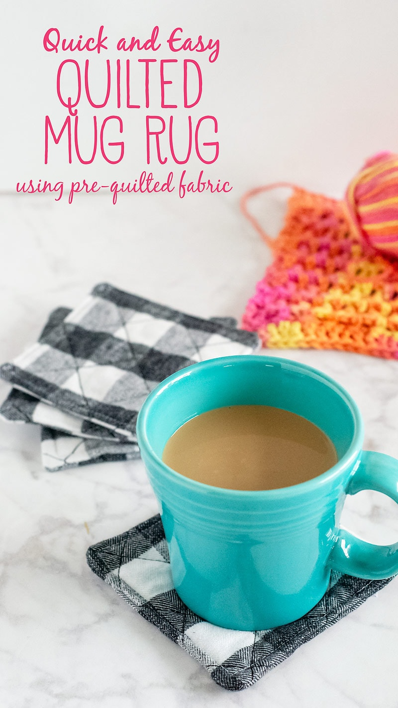Sewing tutorial: Easy quilted mug rug using pre-quilted fabric