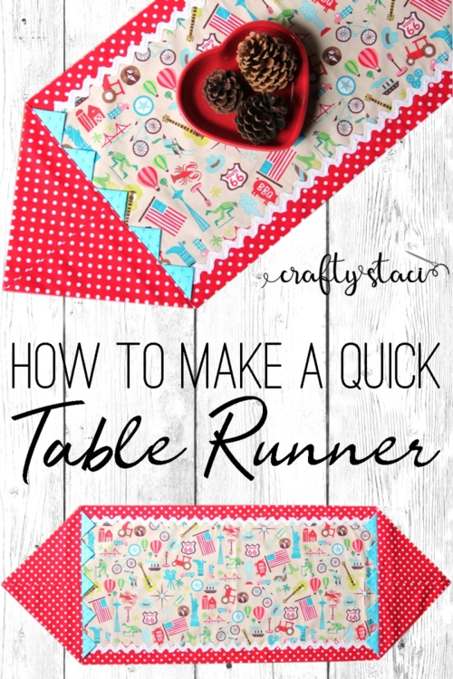 Sewing tutorial: Quick Prairie Point Table Runner