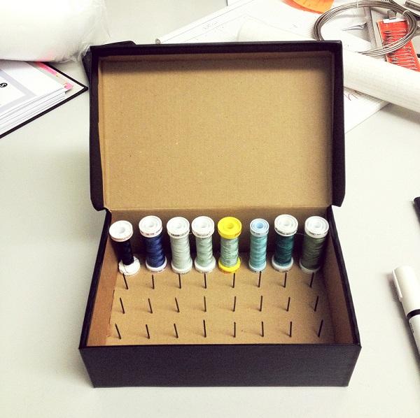Tutorial: DIY thread organizer box