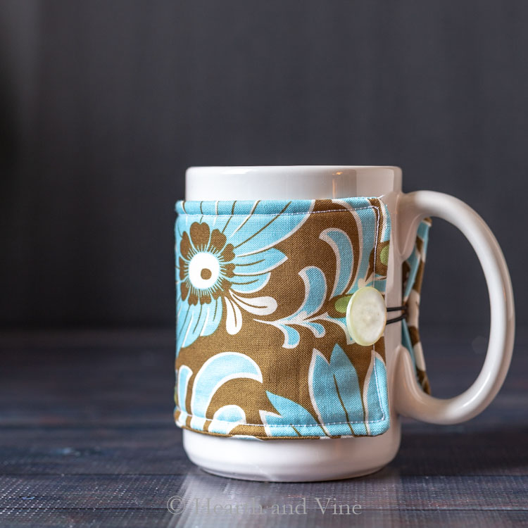 Sewing tutorial: Sew a mug cozy