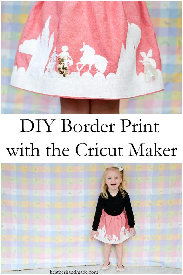 Sewing tutorial: Make custom border print fabric