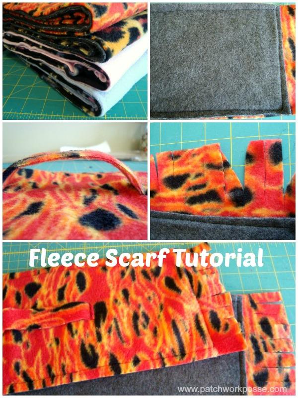 Sewing tutorial: Easiest fleece scarf