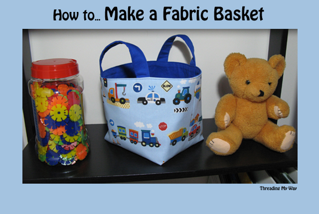 Sewing tutorial: Little fabric basket organizers