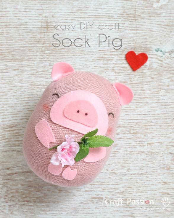 Sewing tutorial: Sock pig softie