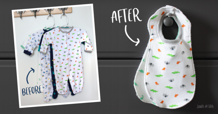 Sewing tutorial: Upcycled bibs from outgrown baby clothes