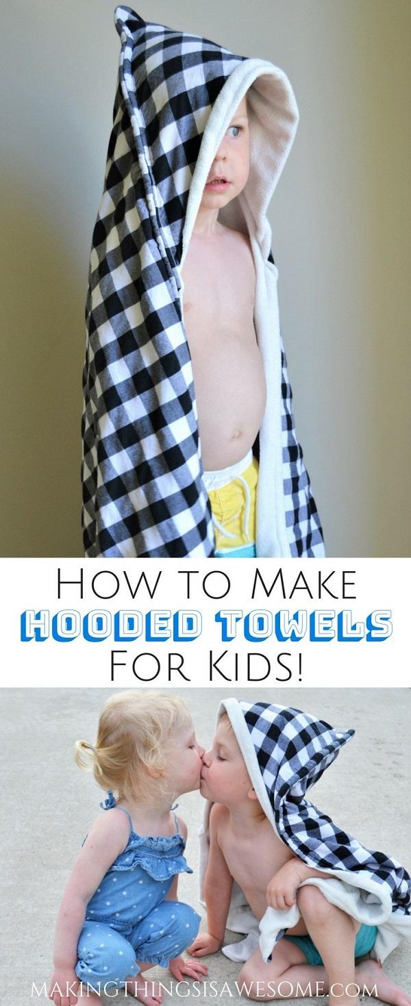 Sewing tutorial: Kids hooded towel