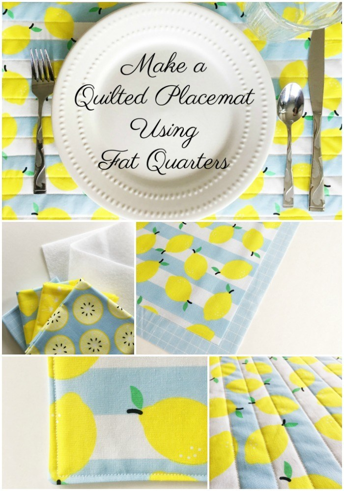 Sewing tutorial: Fat quarter placemats