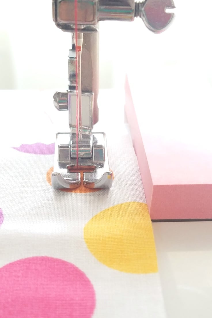 Sewing tip: DIY seam guide for your sewing machine