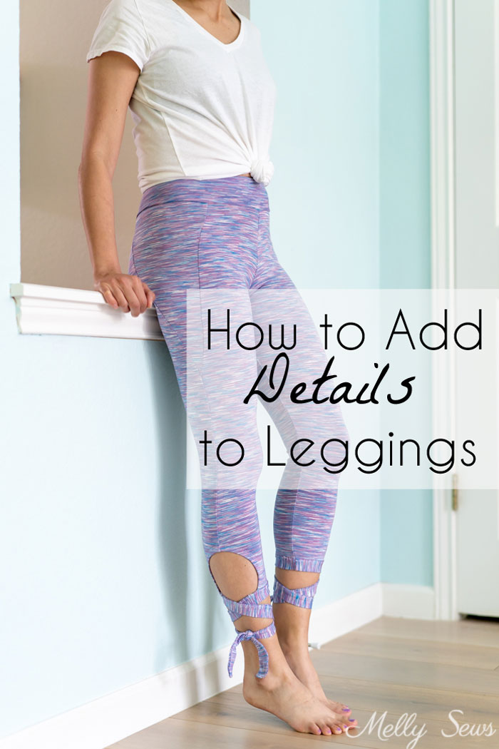 Sewing tutorial: Ballet inspired tie leggings