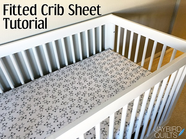 Sewing tutorial: Fitted crib sheets with French seams