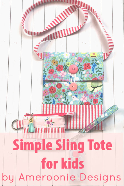 Sewing tutorial: Color block sling bag for kids