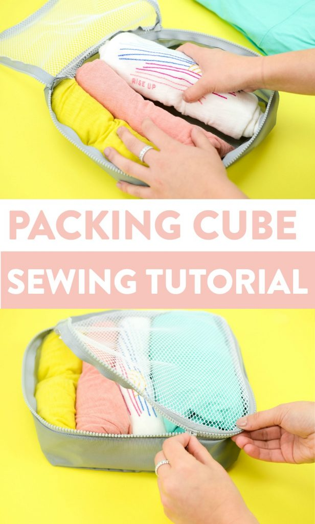Sewing tutorial: Packing cube to organize your suitcase