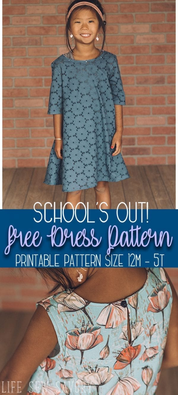 Free sewing pattern: Girls A-line dress or top