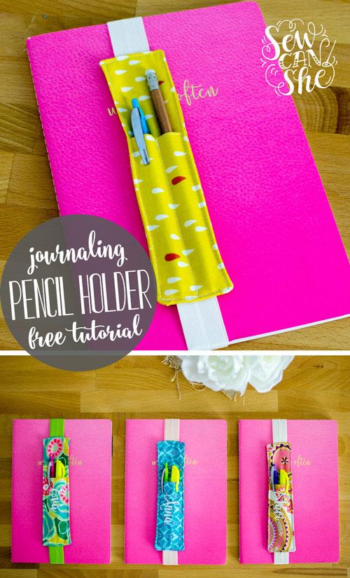 Tutorial: Journal pencil holder bookmark