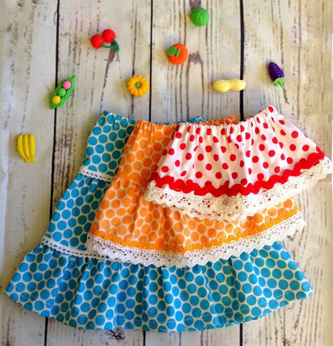 Sewing tutorial: 18 inch doll skirts in 3 lengths