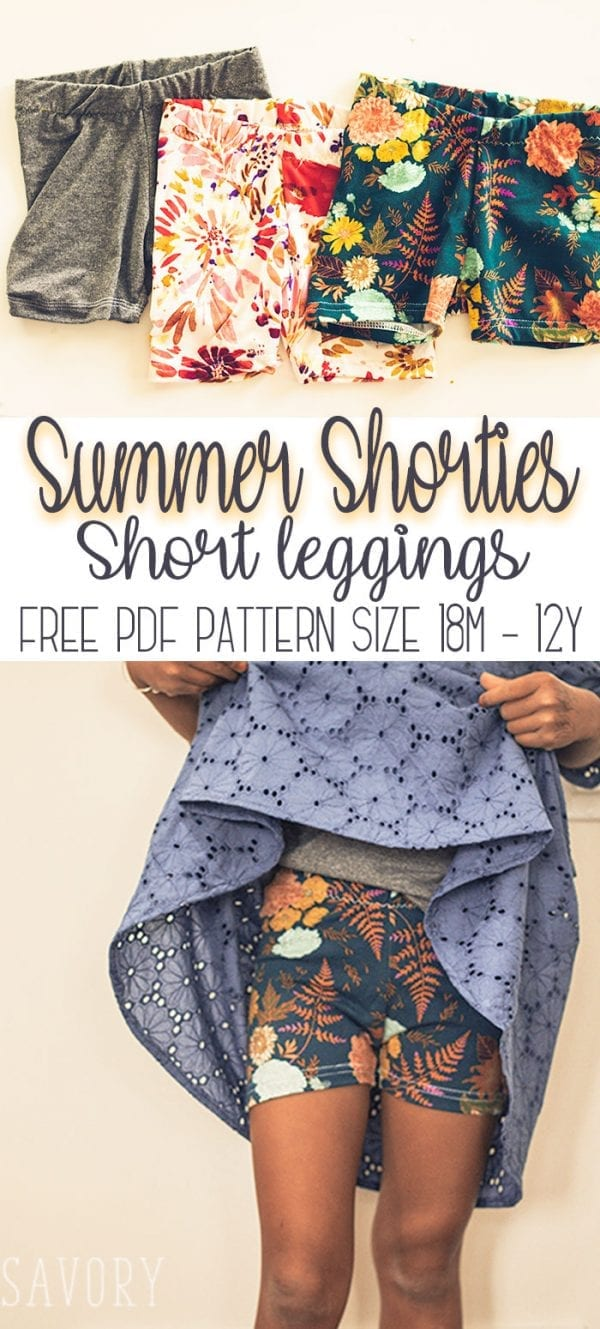 Free pattern: Girls shortie leggings