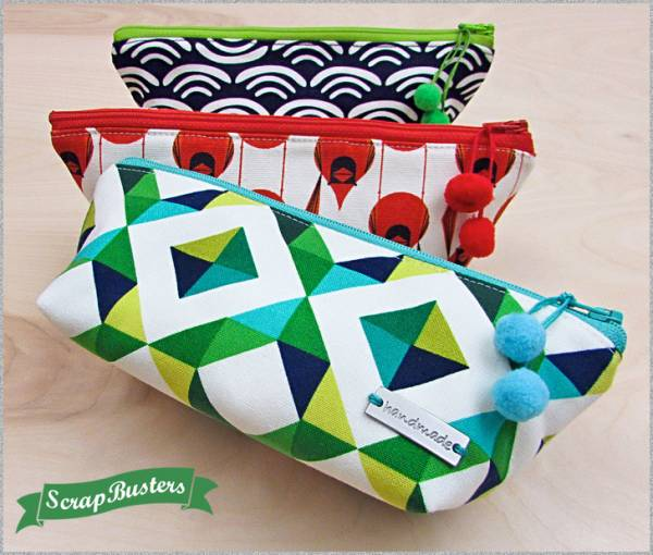 Sewing tutorial: Triangle zipper pouch