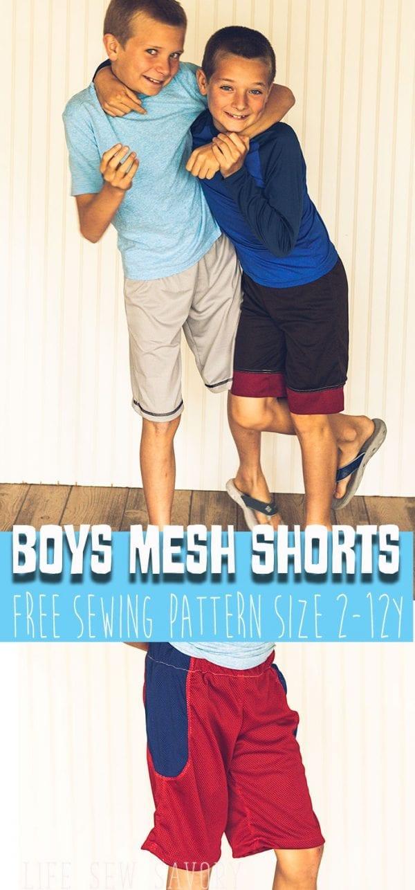 Free sewing pattern: Boys sports shorts