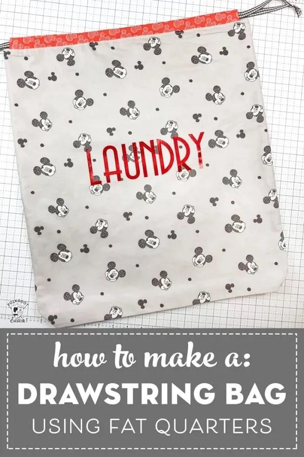 Sewing tutorial: Drawstring travel organizer bags in 5 sizes