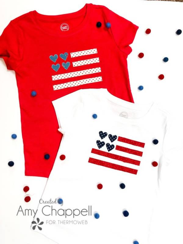 Sewing tutorial: Easy applique flag t-shirts